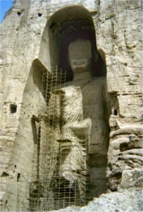 One of the two buddhas of Bamyan in 1976
